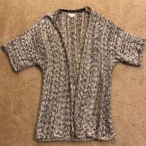 Mossimo Size L Black/Gray Cardigan